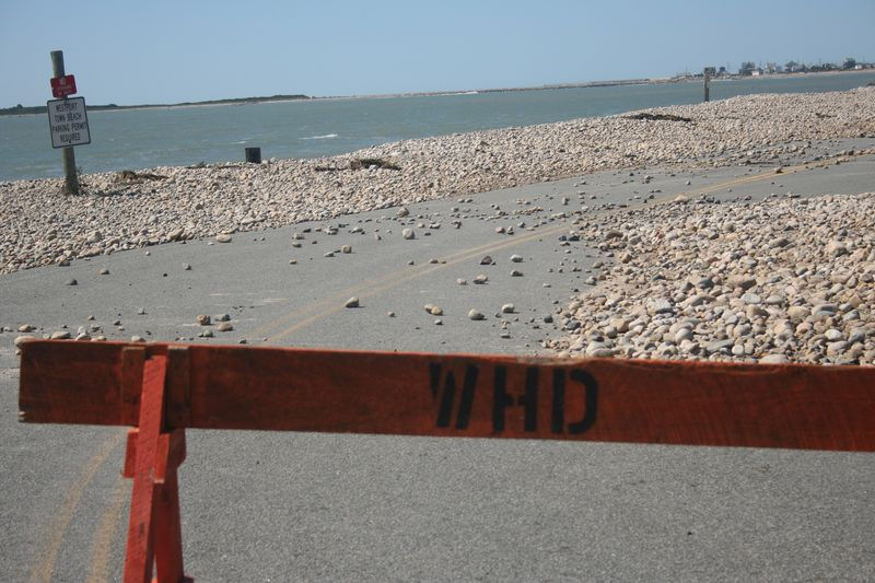 Road closed in Horseneck Beach after Irene