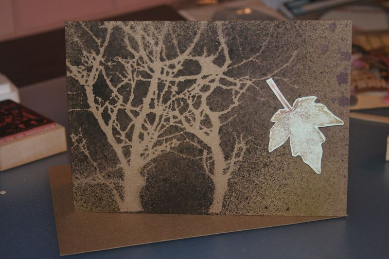 Autumn themed card