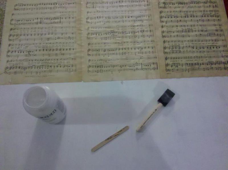 Sheet music art project