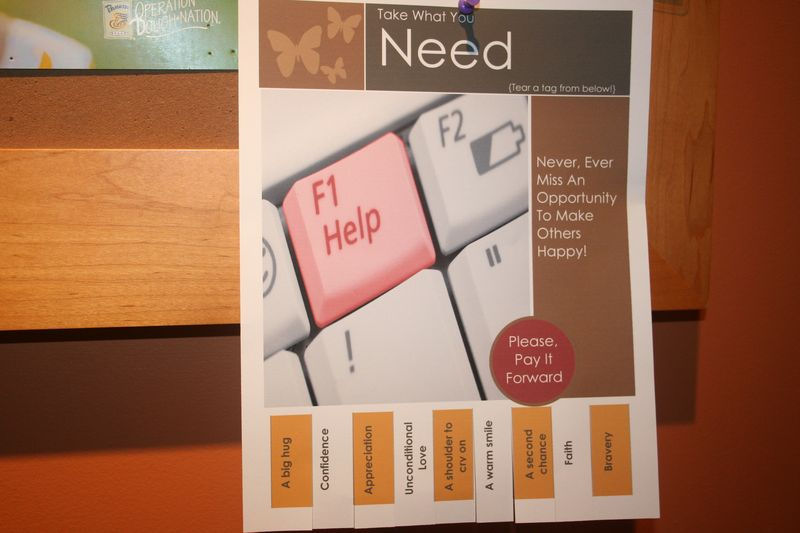 Take what you need pay it forward tabs