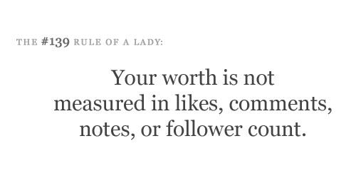 Worth is not measured in Facebook likes