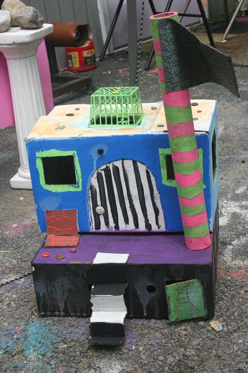 Kids castle art project