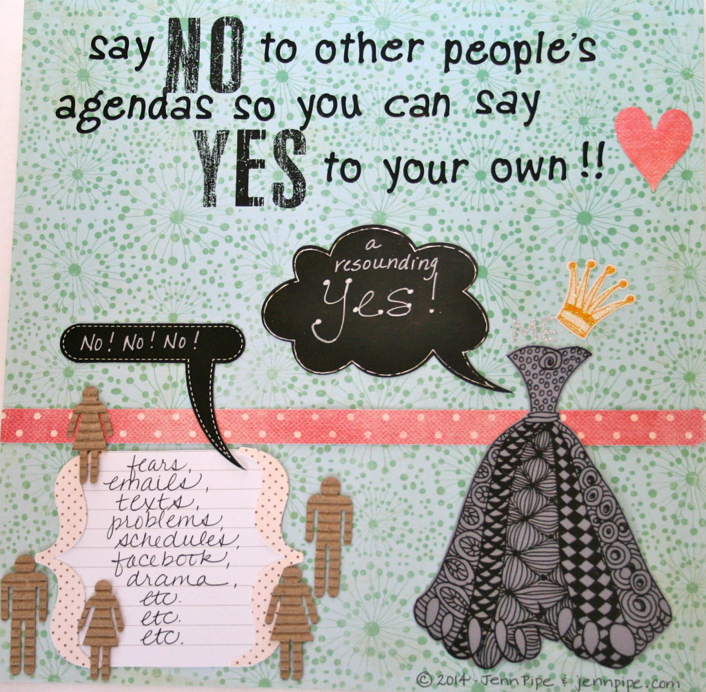 say no to other people's agendas