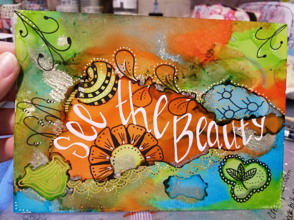 see the beauty alcohol inks